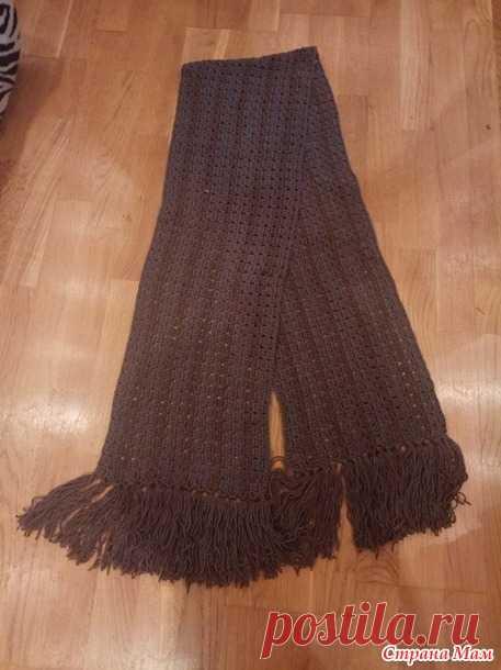 мужской шарф крючком вязание страна мам шарф манишка снуд