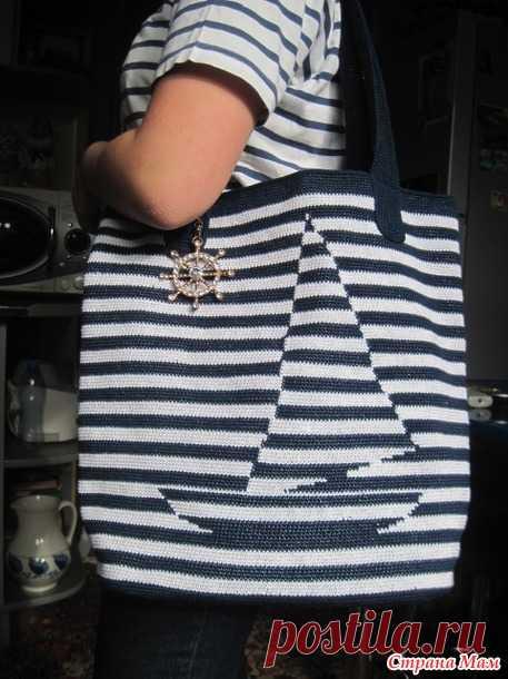 Пляжные сумки крючком, 21 модель со схемами и описанием бесплатно