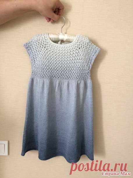 Платье спицами для детей