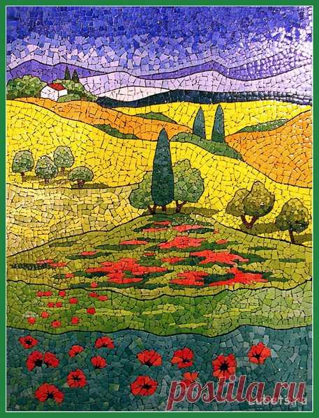 (8) Gallery.ru / Фото #11 - Мозаика из яичной скорлупы. - Vladikana