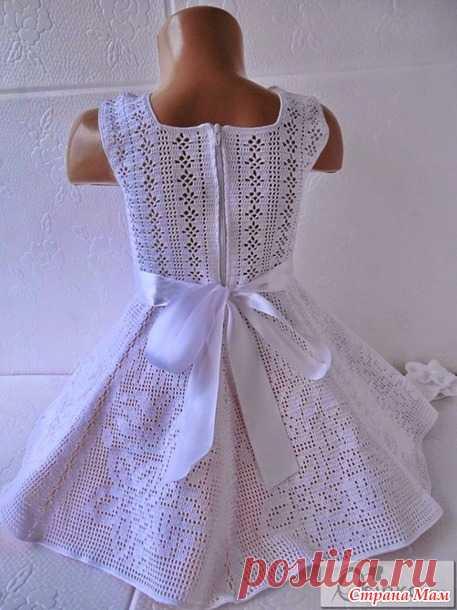 Нарядное платье для девочки, вязанное крючком - Вязание - Страна Мам