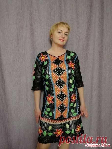 ee56553c0a6 Платье из серии перуанских мотивов  Богемный рай  - Вязание - Страна ...