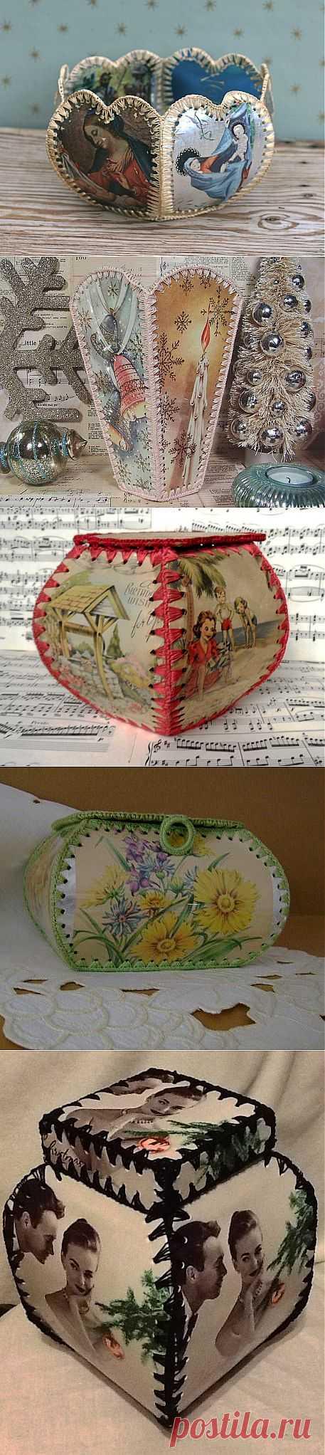 Поделка из открыток вазочка, рождеством открытки стихами