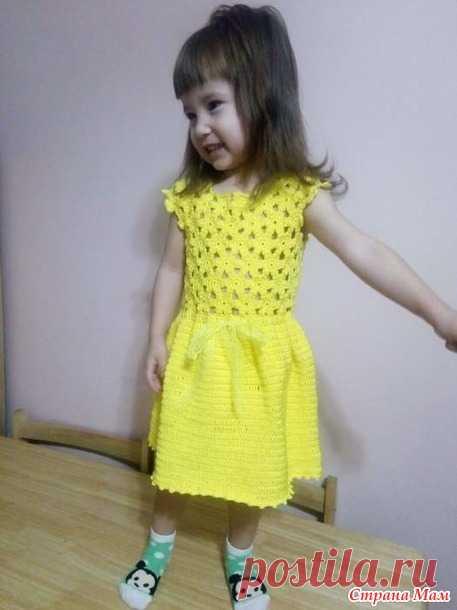 6efd809ae9b Платье для девочки цветочными мотивами - Вязание - Страна Мам ...