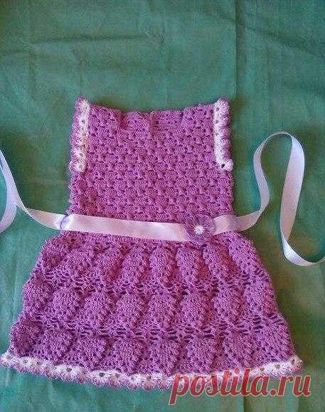 детские платья для девочек крючком схема вязание крючком девочка