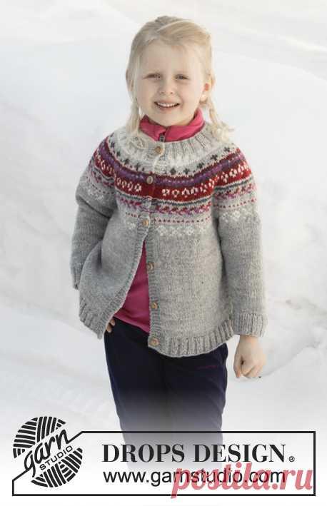 Детский жакет Winter Berries - блог экспертов интернет-магазина пряжи 5motkov.ru