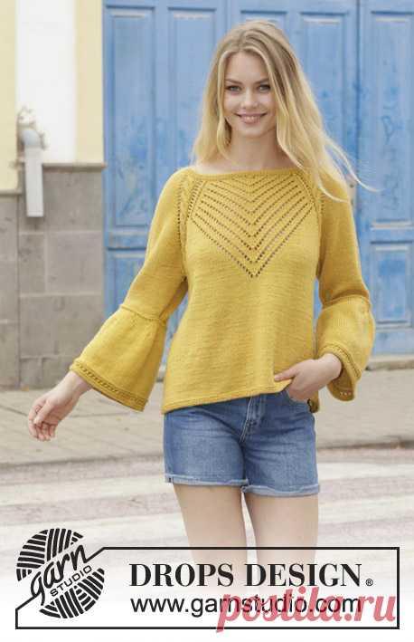 Джемпер Hello Yellow - блог экспертов интернет-магазина пряжи 5motkov.ru
