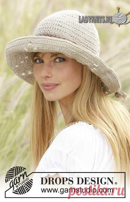 Вязаная крючком женская шляпа