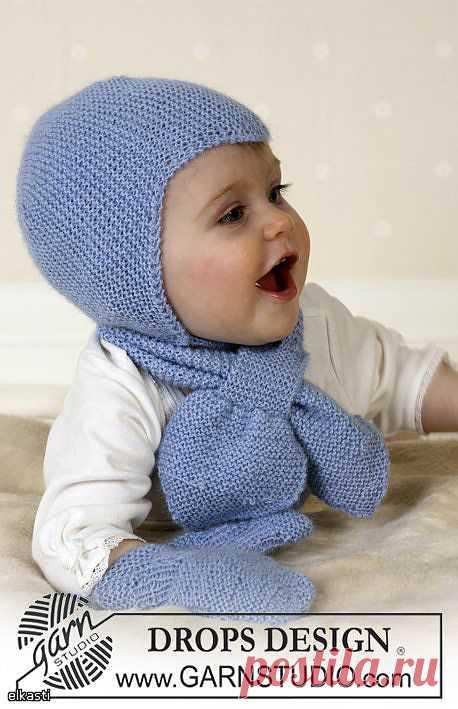 Шапочка, шарф и варежки.