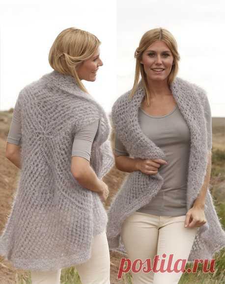как связать жилетку спицами для женщины новые модели вязание