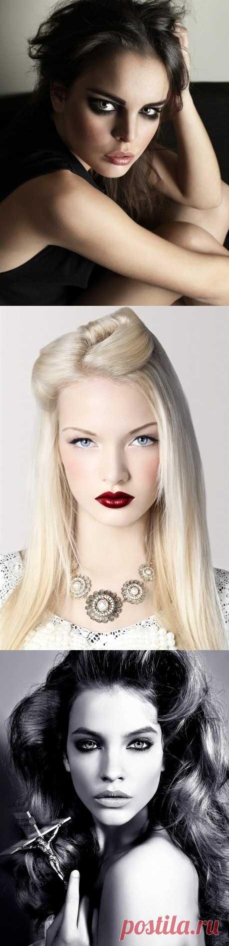 Готический макияж -  тренд нового сезона