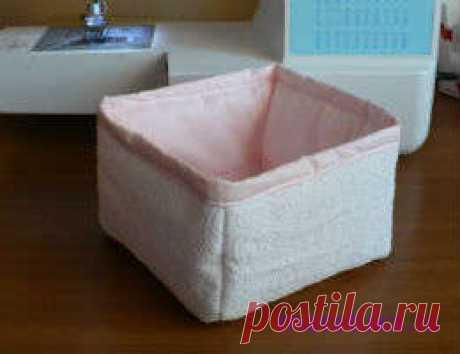 Как сшить текстильные коробочки для дома своими руками.