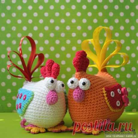 Вязанная курочка с описанием / Вязание игрушек, схемы / Бэйбики. Куклы фото. Одежда для кукол