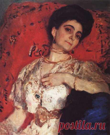 Портрет М.Н.Акимовой. 1908     Валентин Александрович Серов (1865-1911). Часть 1: vakin