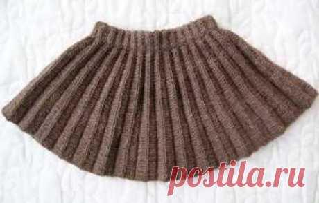 Вязание юбки плиссе спицами по схеме с описанием