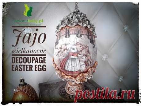 #jajo #Wielkanocne #decoupage #easter #egg #easteregg #tutorial (www.zielonekoty.pl)