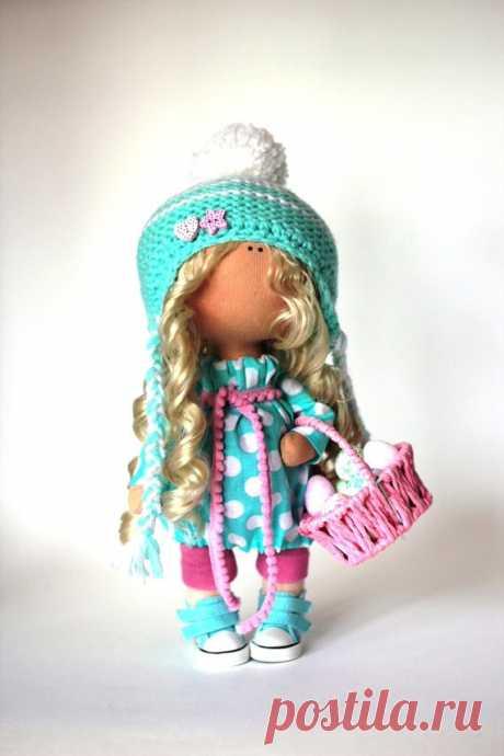 Vivid doll Fabric doll Summer doll handmade by AnnKirillartPlace