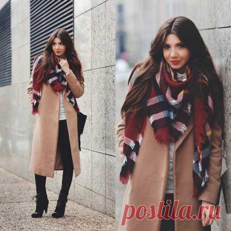 Как красиво завязать платок поверх пальто: варианты с описанием, советы