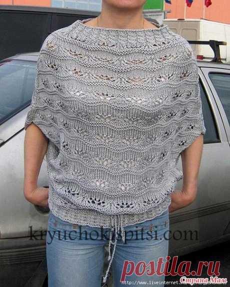 Вязание, рукоделие пряжа, узоры, мастер классы, Безрукавый пуловер.