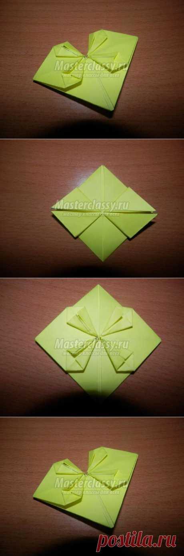 Открытка-валентинка в технике оригами. Сердце. Мастер-класс с пошаговыми фото