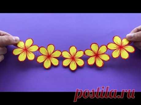 Blumen basteln mit Papier als Deko oder als Geschenk zum selber machen 🌸 Bastelideen