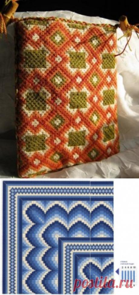 Вышивка в итальянском стиле схемы в технике барджелло