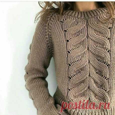 Вязание-спицы>Симпатичный узор спицами