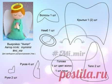 # angel # de la pantalla # patrón # con sus propias manos # creatividad # trabajo manual # juguete # para niños