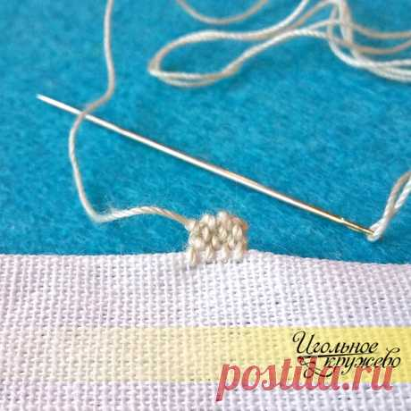 Мастер-класс: Как сделать узелки в технике пунчетто (Puncetto) | ИГОЛЬНОЕ КРУЖЕВО | Яндекс Дзен