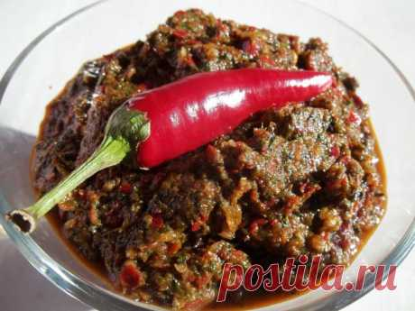 Оригинальный рецепт грузинской аджики