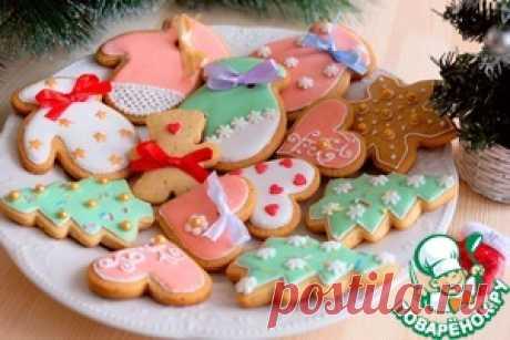 Рождественское имбирное печенье - кулинарный рецепт