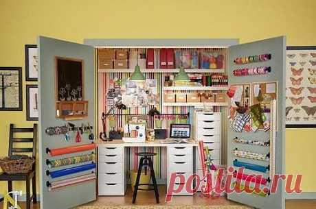Идея мастерской в шкафу!
