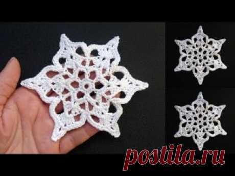 ПРЕЛЕСТЬ! Новая снежинка крючком Crochet snowflake pattern