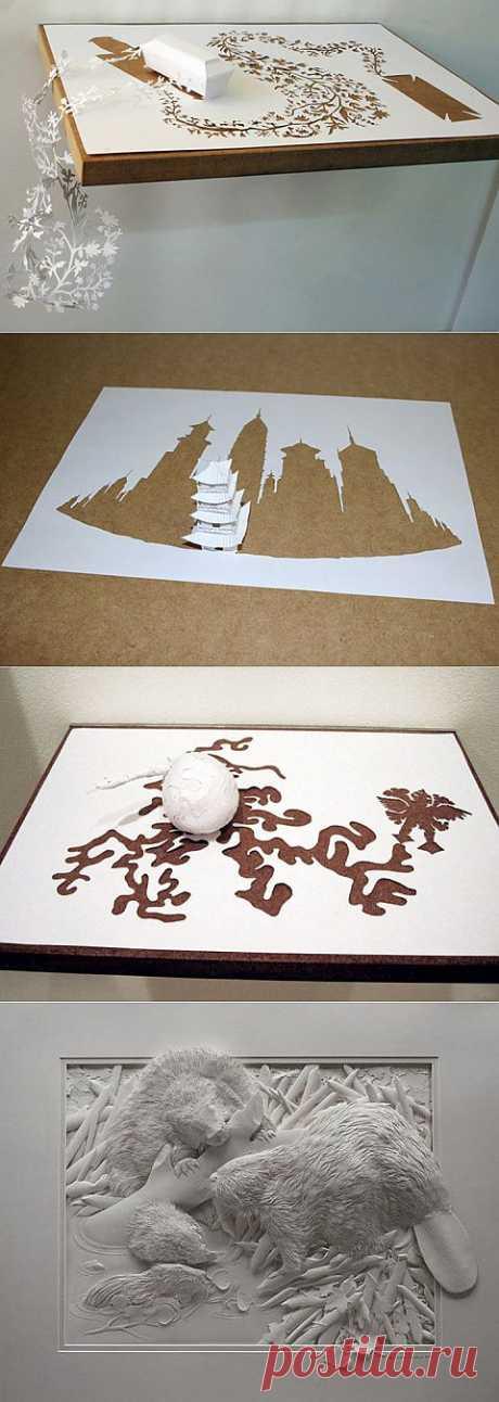 (+1) - Скульптуры из одного листа бумаги | Очумелые ручки