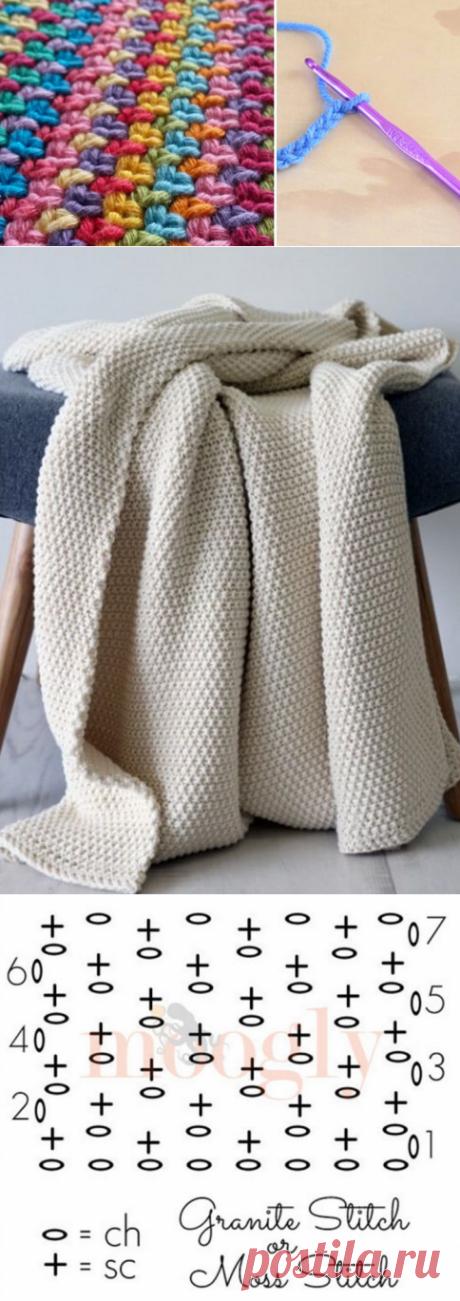 Потрясающий и простой узор крючком своими руками… Очень просто, но как красиво!