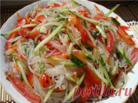 Салат из фунчозы - рецепты с фото. Как приготовить салат из фунчозы с овощами