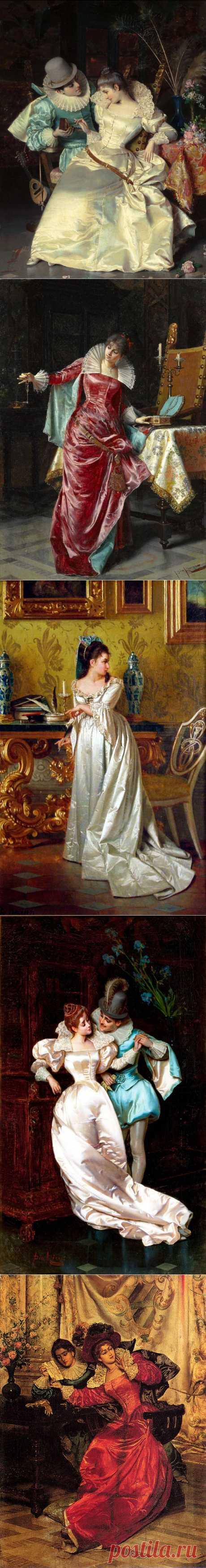 Итальянский художник Pio Ricci (1850-1919)