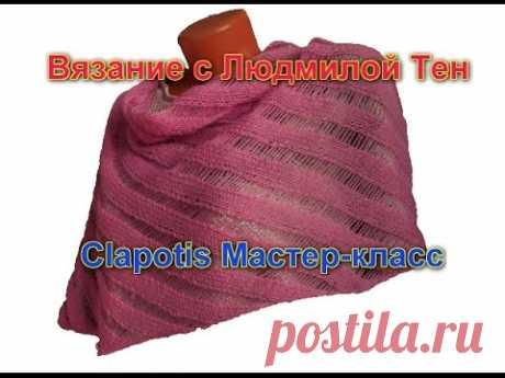 Ажурный шарф clapotis /openwork scarf tutorial Вязание с LusiTen