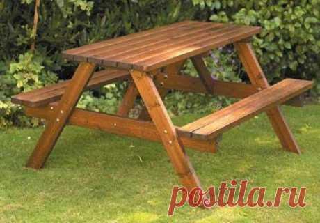 Как сделать простые и удобные столы и скамьи — 6 соток