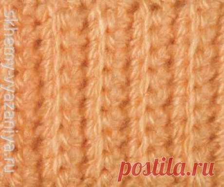 Узор крючком: простая резинка крючком | Схемы-Вязания.ру