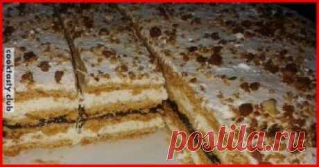 Los pasteles de casa hojaldrados Estos pasteles se acercarán idealmente para la mesa de fiesta, por eso le recomendamos prepararlos lo más rápidamente posible. La golosina prodigiosa con las natillas estupendas someterá los corazones de sus invitados. Es posible añadir de buen grado los componentes adicionales. Los ingredientes para el test: 3 huevos de 7 cucharas de la miel 1 vaso de las nueces molidas 1\/2 vasos del azúcar 1 h. L. negashenoy de la sosa 3 vasos del tormento. La crema: 1 vaso …