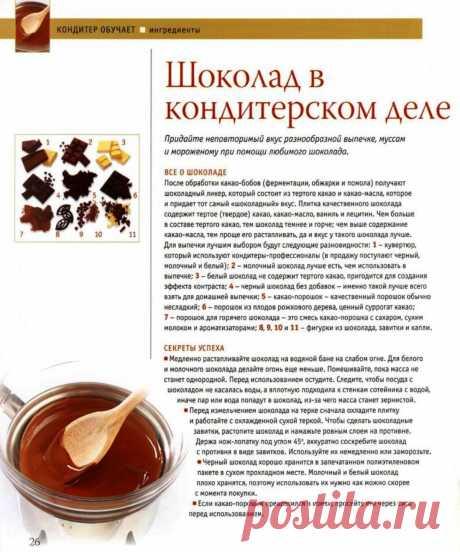 Шоколад в кондитерском деле