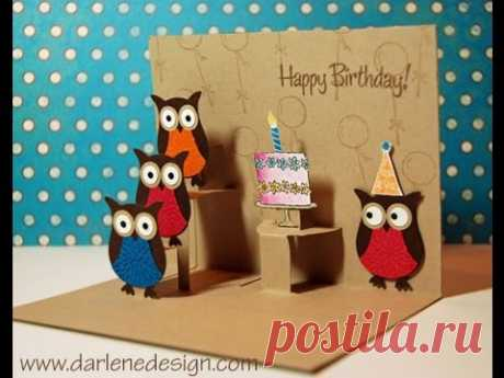 Advanced Two Step Owl Punch Pop-Up Card