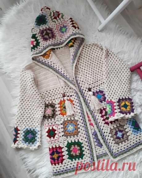 Красивая идея для бабушкиного квадрата
