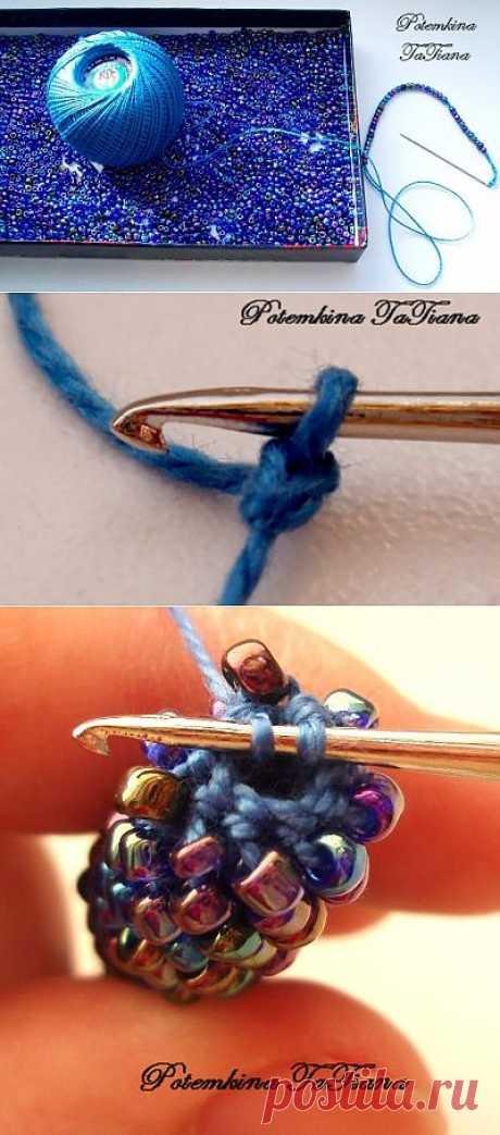 Вязаный крючком жгут из бисера - Ярмарка Мастеров - ручная работа, handmade