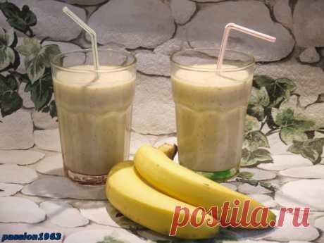 """Бананово-овсяный шейк """"доброе утро"""" – пошаговый рецепт с фотографиями"""