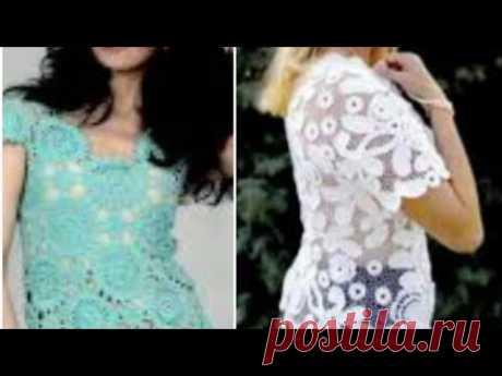 Летние модели крючком со схемами  - Summer crochet patterns with patterns