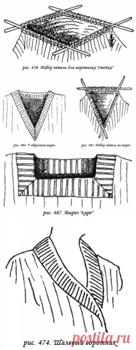 Вязание воротников