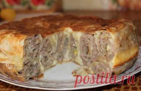 Пирог Лаваш в заливке
