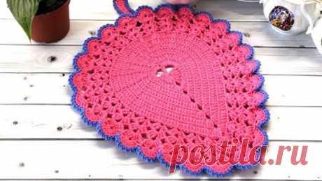 Салфетка - прихватка крючком//Crochet doily//Crochet Tack//